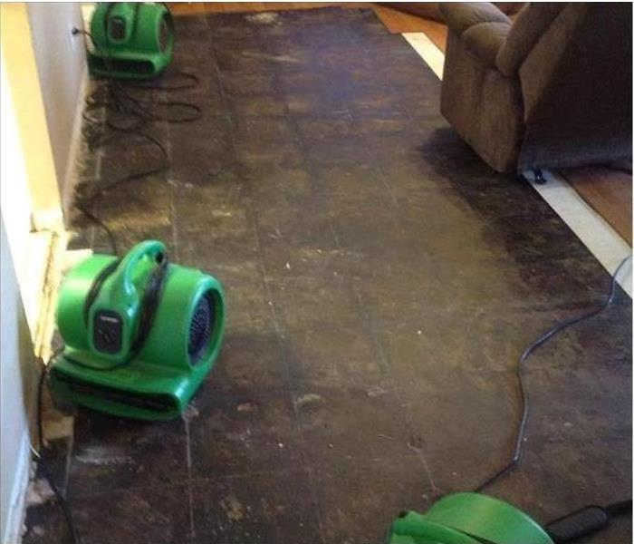 Water Damages Laminate Flooring in Mansfield After