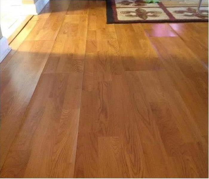 Water Damages Laminate Flooring in Mansfield Before
