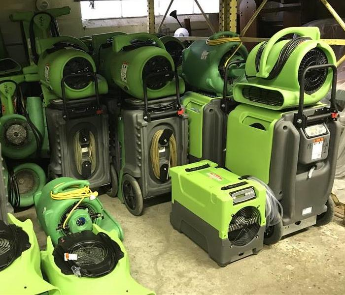 SERVPRO of Richland County has a 5000 SQ FT clean and tidy Warehouse